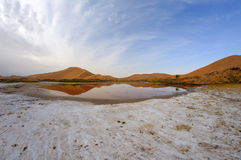 Salt lake in deserts Stock Photography