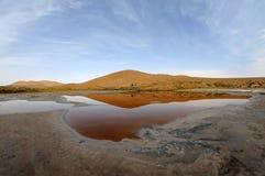 Salt lake in deserts Stock Photos
