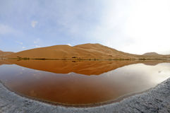 Salt lake in deserts Stock Image