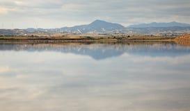 Salt Lake em Larnaca chipre fotografia de stock