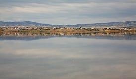 Salt Lake em Larnaca chipre imagem de stock royalty free
