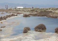 Salt Lake en el puerto de Limassol Imágenes de archivo libres de regalías