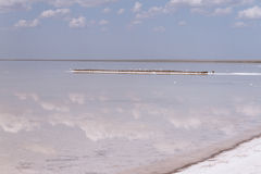 Salt Lake. Excellent Salt Lake Elton with beautiful sky Stock Image
