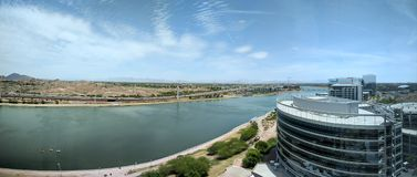 Salt Lake flod, Tempe, AZ Royaltyfria Bilder