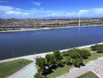 Salt Lake flod, Tempe, AZ arkivbilder