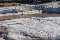 Salt lake. Granite of salt on the shore of the salt lake Royalty Free Stock Photos