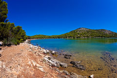 Salt lake - island Dugi otok Stock Photos