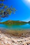 Salt lake - island Dugi otok Stock Photos