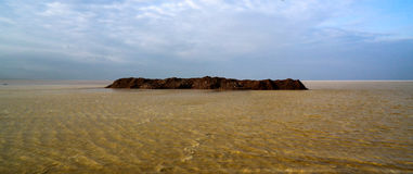 Salt Lake Karum aka Jeziorny Assale Asale przy zmierzchem lub, Danakil Daleko, Etiopia Obraz Royalty Free
