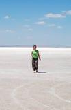Salt lake in Konya, Turkey Stock Image