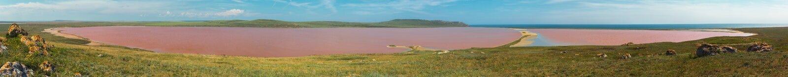 Salt Lake Koyashskoe Elkenskoe. Opuksky Reserve Stock Image