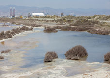 Salt Lake an Limassol-Hafen Lizenzfreie Stockbilder