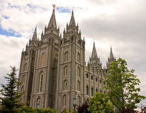 Salt Lake Mormon Temple Stock Photography