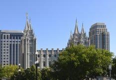 Salt Lake Mormon Temple Stock Photography
