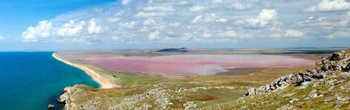 Salt lake near the Black sea Stock Photography