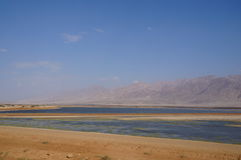 Salt lake near Eilat Stock Photography