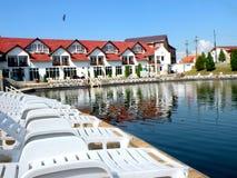 Salt lake in Ocna Sibiului, near Sibiu (Hermanstadt) Royalty Free Stock Photos