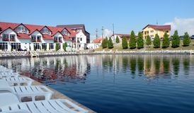 Salt lake in Ocna Sibiului, near Sibiu (Hermanstadt) Royalty Free Stock Images