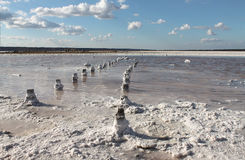 Salt Lake. The perfect place for a person to receive health. Ukraine. Odessa stock photo
