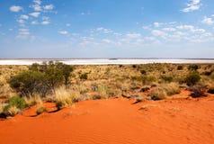 Salt Lake, Petermann, terytorium północne, Australia zdjęcia stock