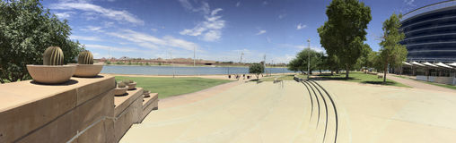 Salt Lake River Embankment, Tempe, AZ Royalty Free Stock Photo