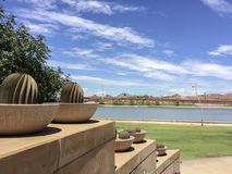 Salt Lake River Embankment, Tempe, AZ Royalty Free Stock Photos