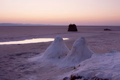 Salt lake in Sahara. Tunisia Stock Images