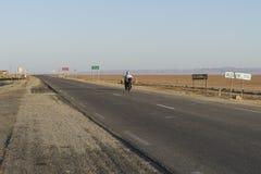 Salt lake in Sahara. Tunisia royalty free stock photos