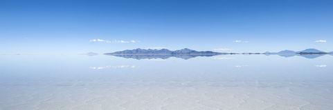 Salt lake Salar de Uyuni in Bolivia Stock Images
