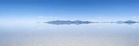 Salt lake Salar de Uyuni in Bolivia Stock Images