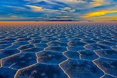 Salt lake Salar de Uyuni is located near Uyuni, Bolivia. It is the worlds largest salt flat. royalty free stock image