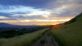 Salt Lake solnedgång Royaltyfri Bild