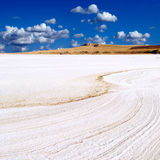 Salt lake sunny landscape. Stock Image