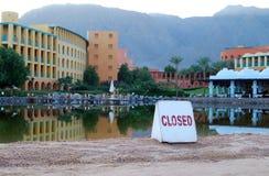 Salt Lake at Taba Resort. Closed salt lake at Intercontinental Hotel Taba, Egypt royalty free stock images