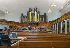 The Salt Lake Tabernacle pipe organs Royalty Free Stock Photography