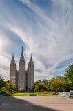 Salt Lake tempel Arkivfoto