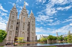 Salt Lake tempel i Salt Lake City, Utah, USA Arkivfoto