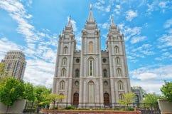 Salt Lake tempel i Salt Lake City, Utah, USA Royaltyfria Foton