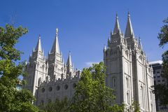 Salt Lake Temple. Salt Lake City Utah Mormon Church of Jesus Christ of Latter-day Saints temple Royalty Free Stock Images