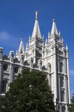 Salt Lake Temple East Side. Salt Lake City Utah Mormon Church of Jesus Christ of Latter-day Saints temple Royalty Free Stock Photo