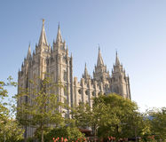 Salt Lake Temple. The Salt Lake Temple is located in Salt Lake City Utah and took ~40 years to build from 1853 to 1893 and remains one of the most most visited Royalty Free Stock Image