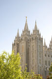 Salt Lake Temple. The Salt Lake Temple is located in Salt Lake City Utah and took ~40 years to build from 1853 to 1893 and remains one of the most most visited Stock Image