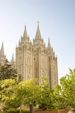 Salt Lake Temple. The Salt Lake Temple is located in Salt Lake City Utah and took ~40 years to build from 1853 to 1893 and remains one of the most most visited Stock Photo