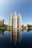 Salt Lake Temple and Reflection Royalty Free Stock Images