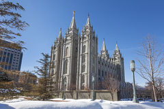 The Salt Lake Temple in Utah Royalty Free Stock Photography