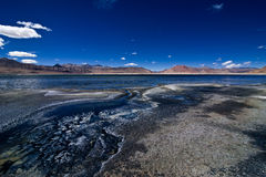 Salt lake Tso Kar. Himalaya mountains. India Stock Photos