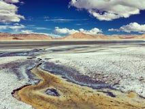 Salt lake Tso Kar in Himalayas. Ladakh, India Stock Photography