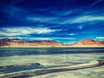 Salt lake Tso Kar in Himalayas. Ladakh, India Stock Photos