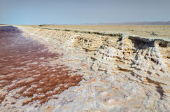 Salt lake in Tunisia Stock Photography