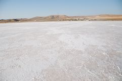 Salt lake in Turkey. Panorama of tuz golu salt lake  in anatolia, Turkey, Asia Stock Image